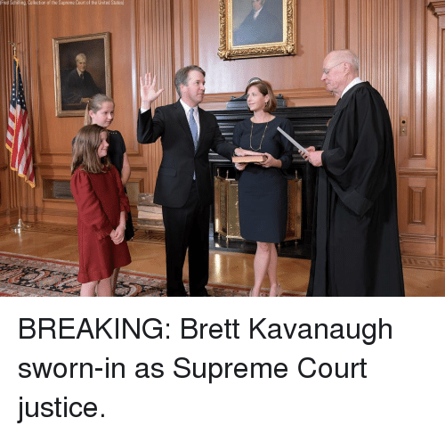 Sworn: Fred Schilling. Collection of the Supreme Court of the United States BREAKING: Brett Kavanaugh sworn-in as Supreme Court justice.