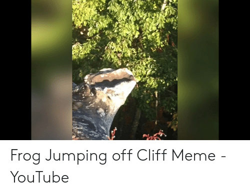 Jumping Off A Cliff Meme: Frog Jumping off Cliff Meme - YouTube