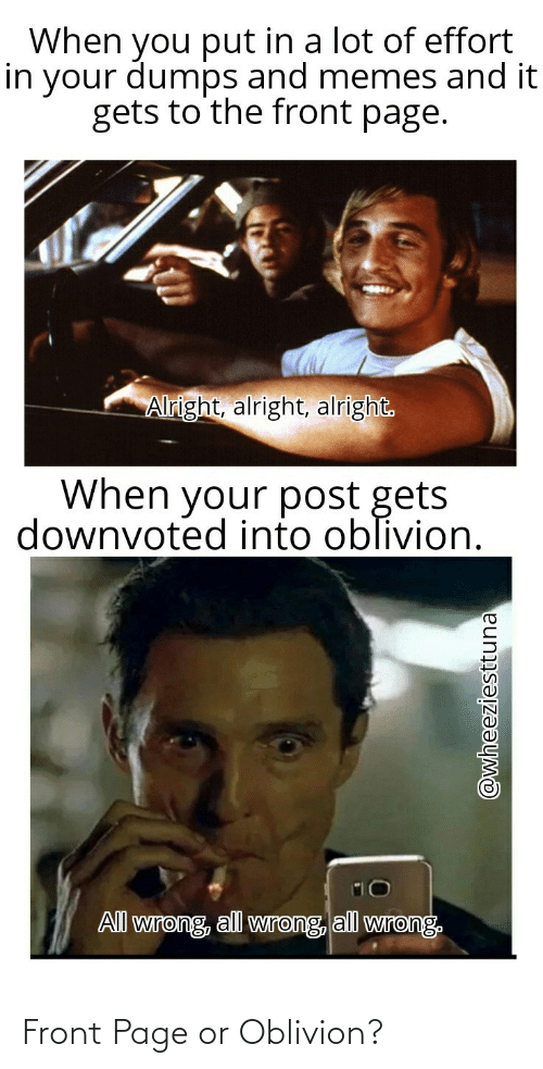 page: Front Page or Oblivion?