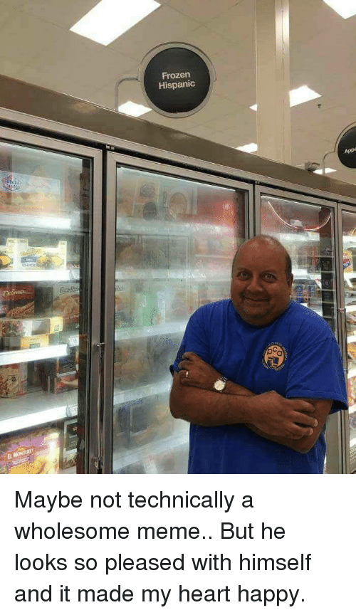 Wholesome Meme: Frozen  Hispanic  App  CHICK  El Maybe not technically a wholesome meme.. But he looks so pleased with himself and it made my heart happy.