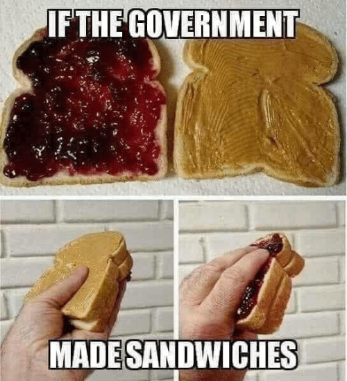 Memes, Government, and 🤖: FTHE GOVERNMENT  MADESANDWICHES