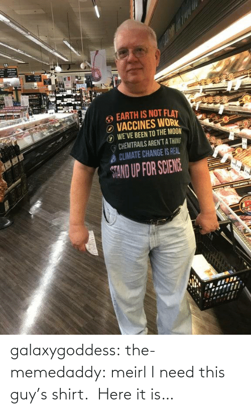 stand: galaxygoddess: the-memedaddy: meirl I need this guy's shirt.  Here it is…