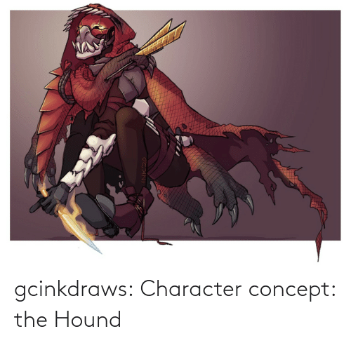 hound: gcinkdraws:  Character concept: the Hound