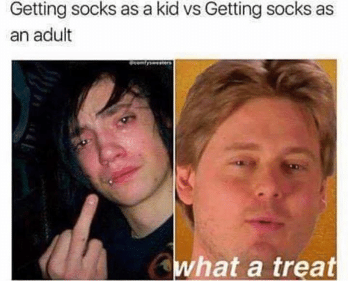 Adult, Kid, and What: Getting socks as a kid vs Getting socks as  an adult  what a treat