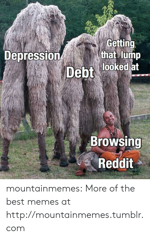 Memes, Reddit, and Tumblr: Getting  that lump  Depression  Debt looked at  Browsing  Reddit mountainmemes:  More of the best memes at http://mountainmemes.tumblr.com