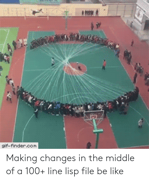 The Middle: gif-finder.com Making changes in the middle of a 100+ line lisp file be like