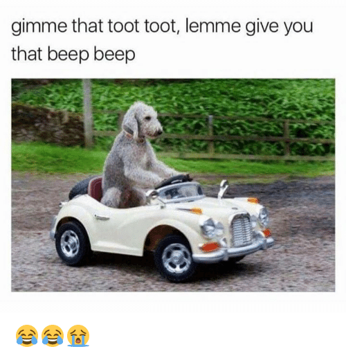 Toots: gimme that toot toot, lemme give you  that beep beep 😂😂😭