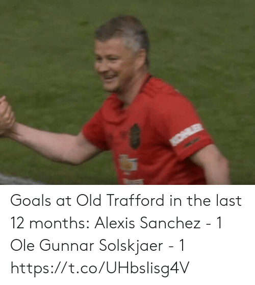 Goals, Soccer, and Old: Goals at Old Trafford in the last 12 months:  Alexis Sanchez - 1 Ole Gunnar Solskjaer - 1 https://t.co/UHbsIisg4V