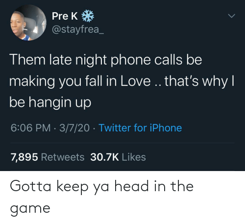 Game: Gotta keep ya head in the game