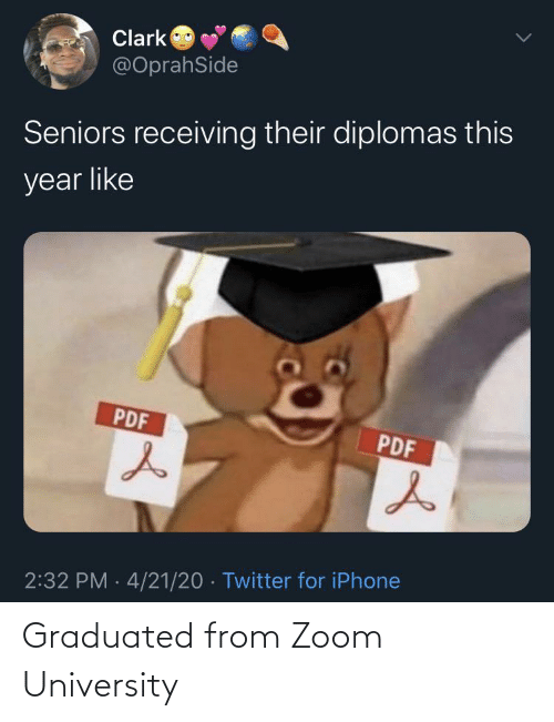 Zoom: Graduated from Zoom University