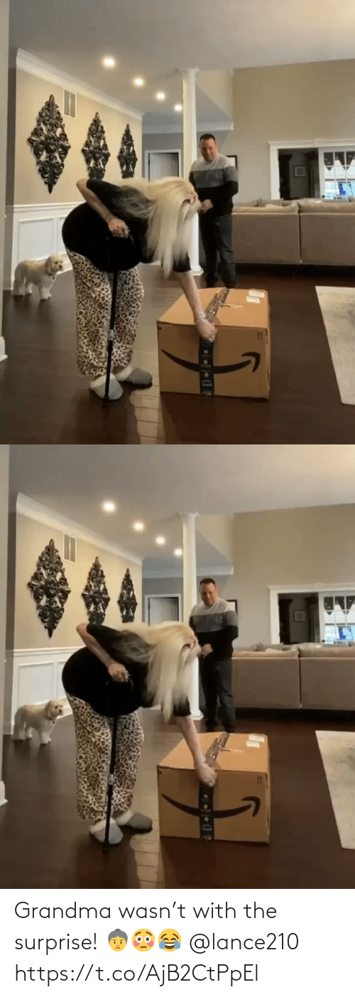 With: Grandma wasn't with the surprise! 👵😳😂 @lance210 https://t.co/AjB2CtPpEl