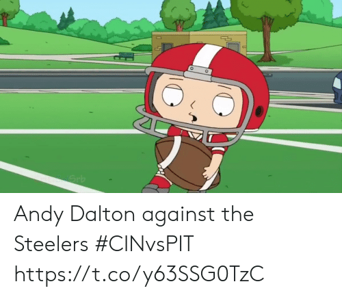 Sports, Steelers, and Andy Dalton: Grb Andy Dalton against the Steelers #CINvsPIT https://t.co/y63SSG0TzC