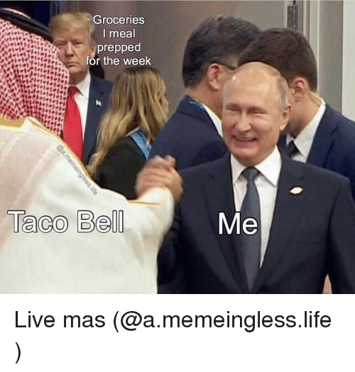 Funny, Life, and Live: Groceries  I meal  prepped  for the week  Me Live mas (@a.memeingless.life )