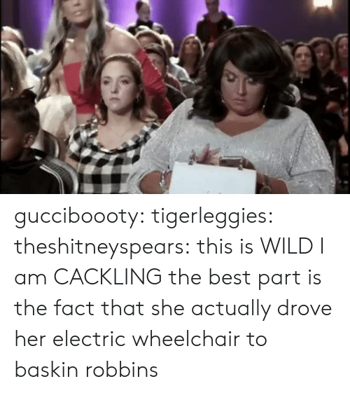 Target, Tumblr, and Baskin Robbins: gucciboooty:  tigerleggies: theshitneyspears: this is WILD  I am CACKLING   the best part is the fact that she actually drove her electric wheelchair to baskin robbins