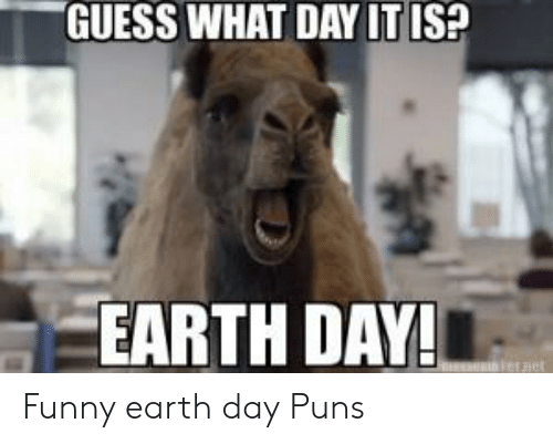 GUESS WHAT DAY IT IS? EARTH DAY! Jeraet Funny Earth Day Puns | Funny