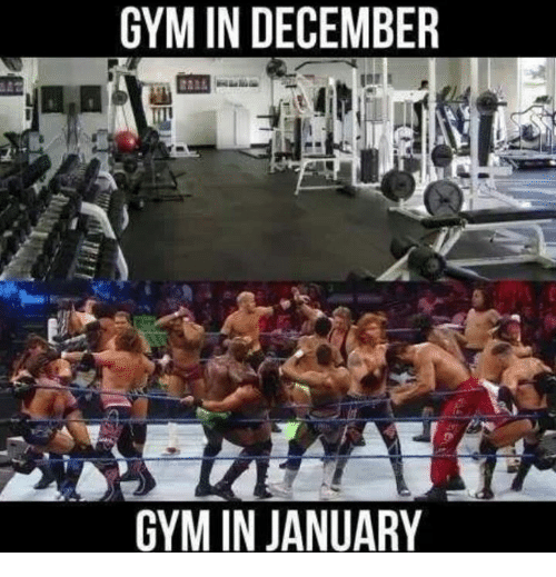 Gym, December, and  January: GYM IN DECEMBER  GYM IN JANUARY