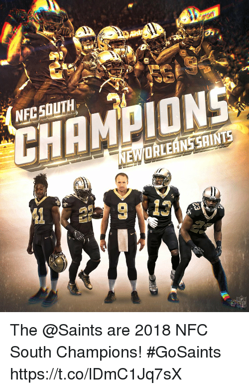 Memes, New Orleans Saints, and 🤖: HAMION The @Saints are 2018 NFC South Champions! #GoSaints https://t.co/lDmC1Jq7sX