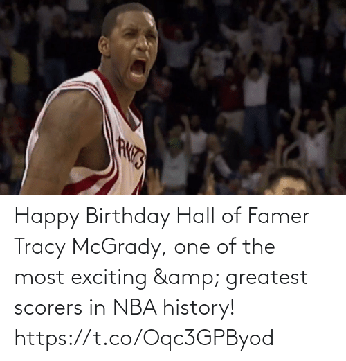Birthday: Happy Birthday Hall of Famer Tracy McGrady, one of the most exciting & greatest scorers in NBA history!   https://t.co/Oqc3GPByod