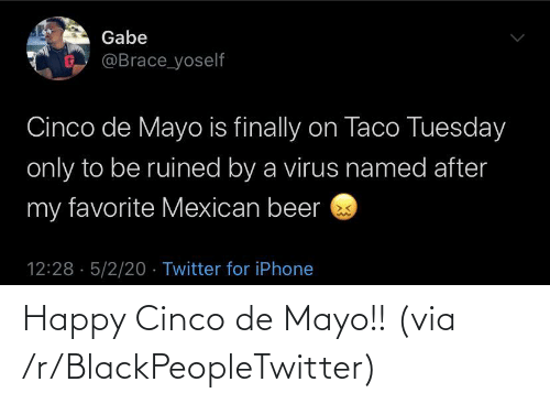 blackpeopletwitter: Happy Cinco de Mayo!! (via /r/BlackPeopleTwitter)