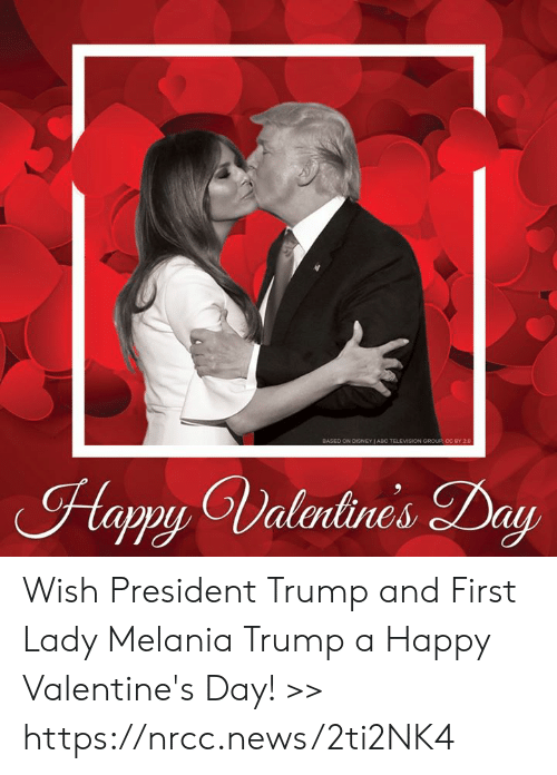 Melania Trump, Memes, and News: Hapy Valrlines Day Wish President Trump and First Lady Melania Trump a Happy Valentine's Day! >> https://nrcc.news/2ti2NK4