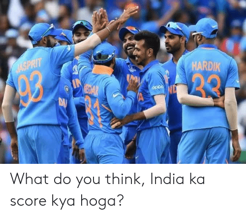 India, Indianpeoplefacebook, and Oppo: HARDIK  AASPRIT  20  eaAR  OPpo What do you think, India ka score kya hoga?