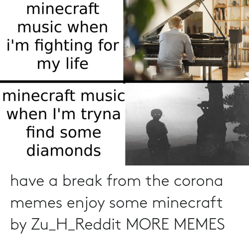 H: have a break from the corona memes enjoy some minecraft by Zu_H_Reddit MORE MEMES