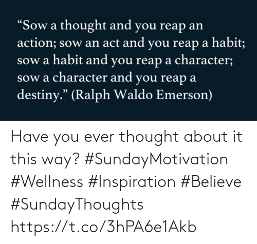 Love for Quotes: Have you ever thought about  it this way? #SundayMotivation #Wellness  #Inspiration #Believe #SundayThoughts https://t.co/3hPA6e1Akb