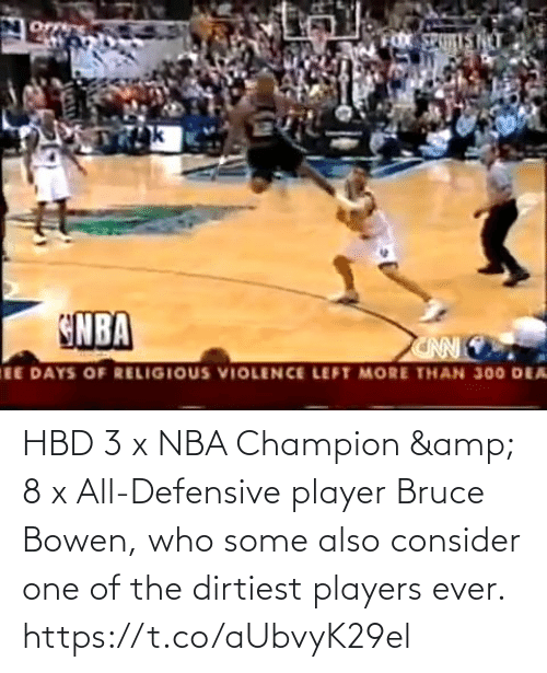 all: HBD 3 x NBA Champion & 8 x All-Defensive player Bruce Bowen, who some also consider one of the dirtiest players ever.    https://t.co/aUbvyK29el