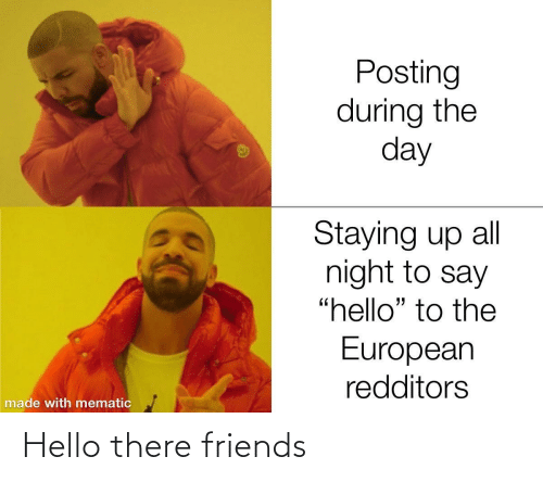 there: Hello there friends
