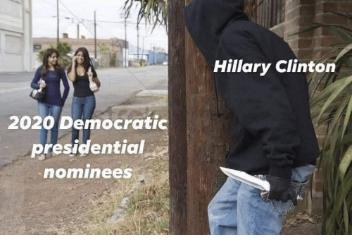 democratic: Hillary Clinton  2020 Democratic  presidential  ominees