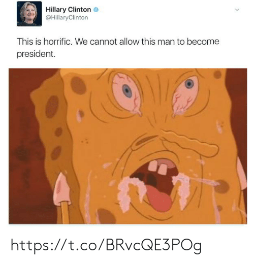 Hillary Clinton: Hillary Clinton  @HillaryClinton  This is horrific. We cannot allow this man to become  president https://t.co/BRvcQE3POg