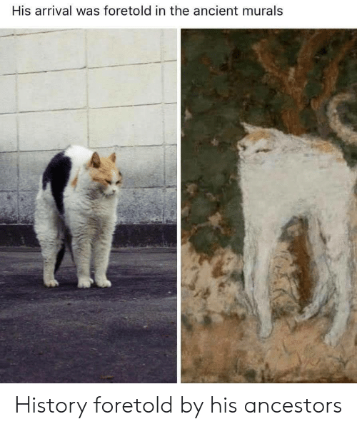 History, Ancient, and  Ancestors: His arrival was foretold in the ancient murals History foretold by his ancestors