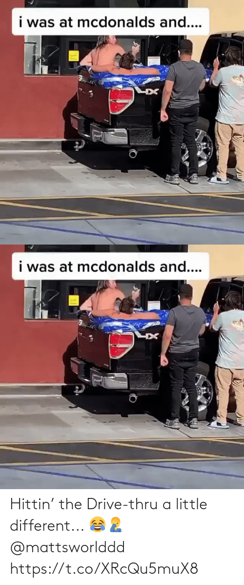 Drive: Hittin' the Drive-thru a little different...  😂🤦‍♂️ @mattsworlddd https://t.co/XRcQu5muX8