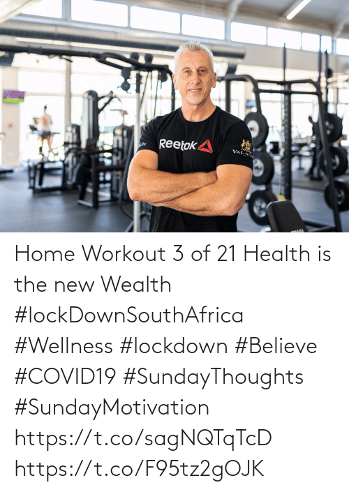 Love for Quotes: Home Workout 3 of 21  Health is the new Wealth  #lockDownSouthAfrica  #Wellness  #lockdown #Believe #COVID19 #SundayThoughts #SundayMotivation   https://t.co/sagNQTqTcD https://t.co/F95tz2gOJK