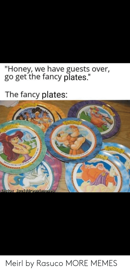 "Dank, Memes, and Target: ""Honey, we have guests over,  go get the fancy plates.""  The fancy plates:  RICKLA  Insta: luciddreaminmemes Meirl by Rasuco MORE MEMES"