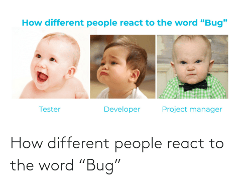 """Word: How different people react to the word """"Bug"""""""