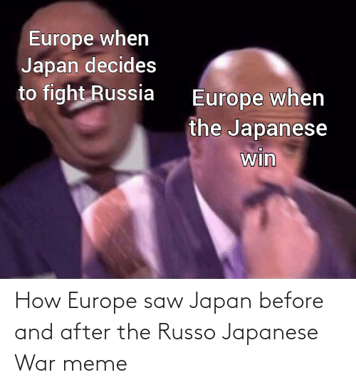 meme: How Europe saw Japan before and after the Russo Japanese War meme