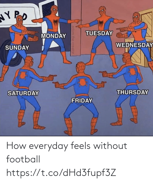 how: How everyday feels without football https://t.co/dHd3fupf3Z