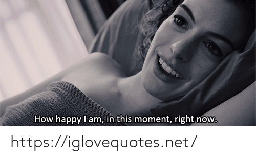 Happy, How, and Net: How happy I am, in this moment, right now. https://iglovequotes.net/