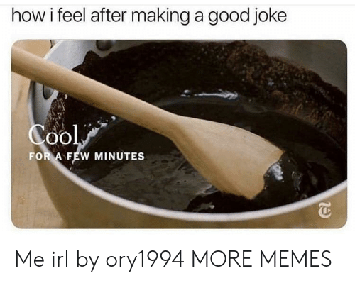 Dank, Memes, and Target: how i feel after making a good joke  FOR A FEW MINUTES Me irl by ory1994 MORE MEMES
