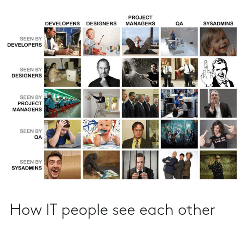 people: How IT people see each other