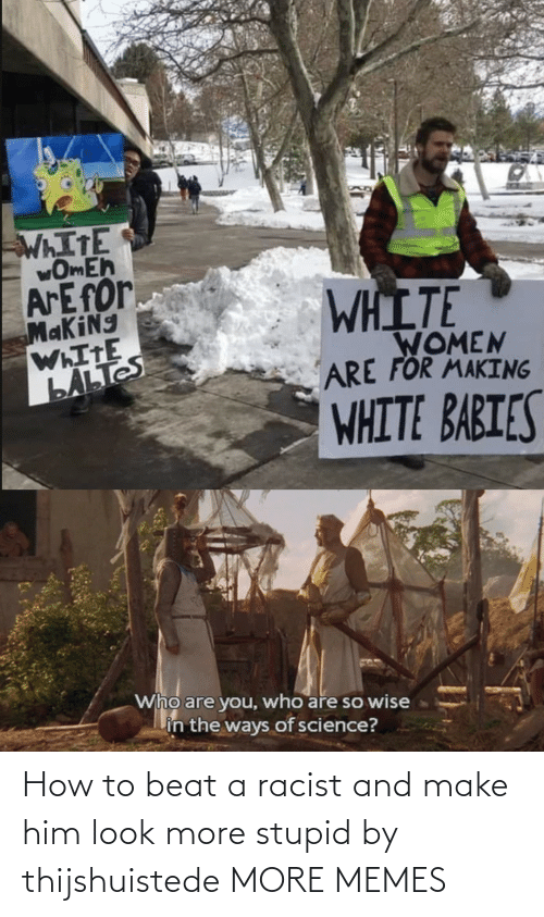 stupid: How to beat a racist and make him look more stupid by thijshuistede MORE MEMES