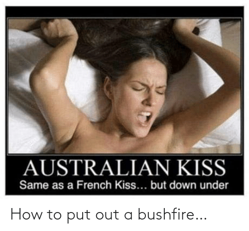 Put: How to put out a bushfire…