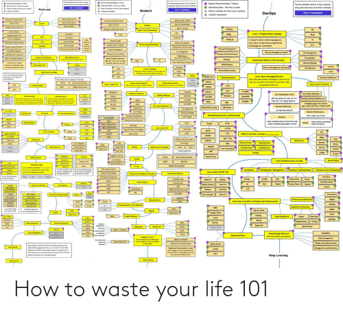 How To: How to waste your life 101