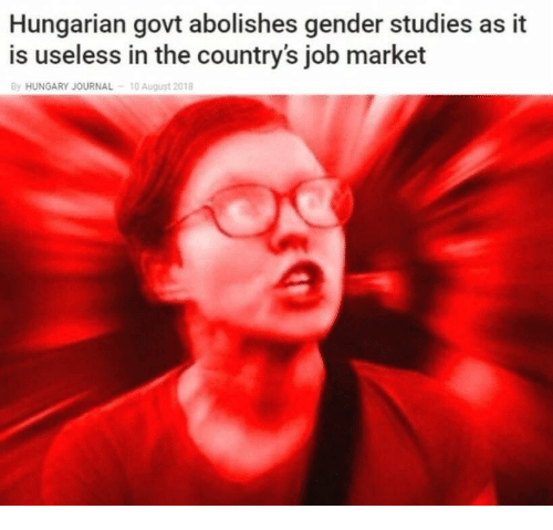 Hungarian: Hungarian govt abolishes gender studies as it  is useless in the country's job market  By HUNGARY JOURNAL  10 August 2018