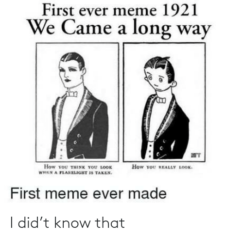 know: I did't know that