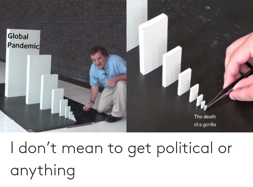 political: I don't mean to get political or anything