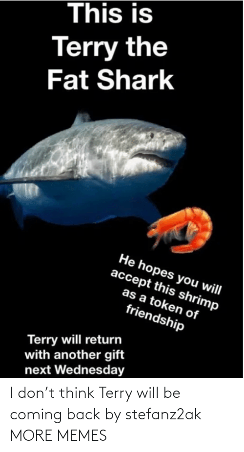 Back: I don't think Terry will be coming back by stefanz2ak MORE MEMES