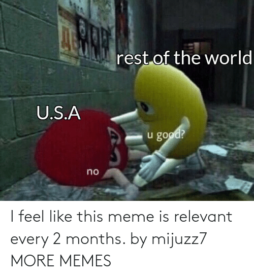 months: I feel like this meme is relevant every 2 months. by mijuzz7 MORE MEMES