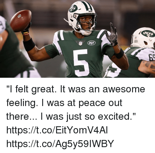 """at-peace: """"I felt great. It was an awesome feeling. I was at peace out there... I was just so excited."""" https://t.co/EitYomV4Al https://t.co/Ag5y59IWBY"""